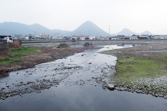 清掃後の新池(香川県高松市)