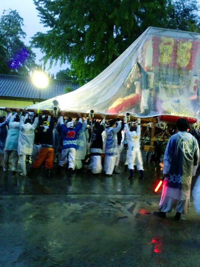 今年は2日間雨の祭り
