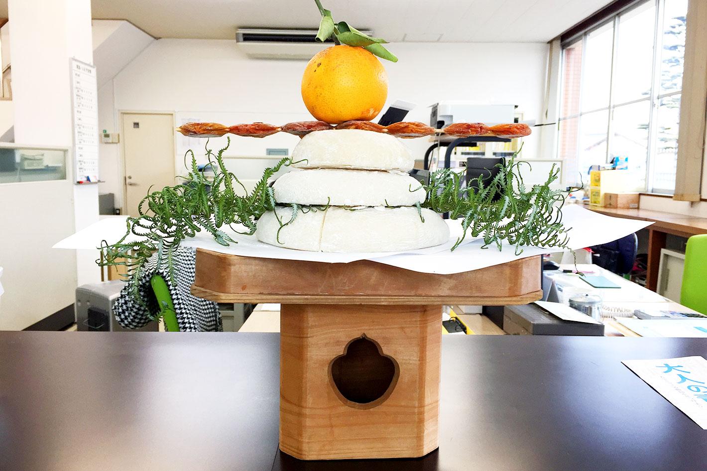坂井工務店の年末年始 - 鏡餅