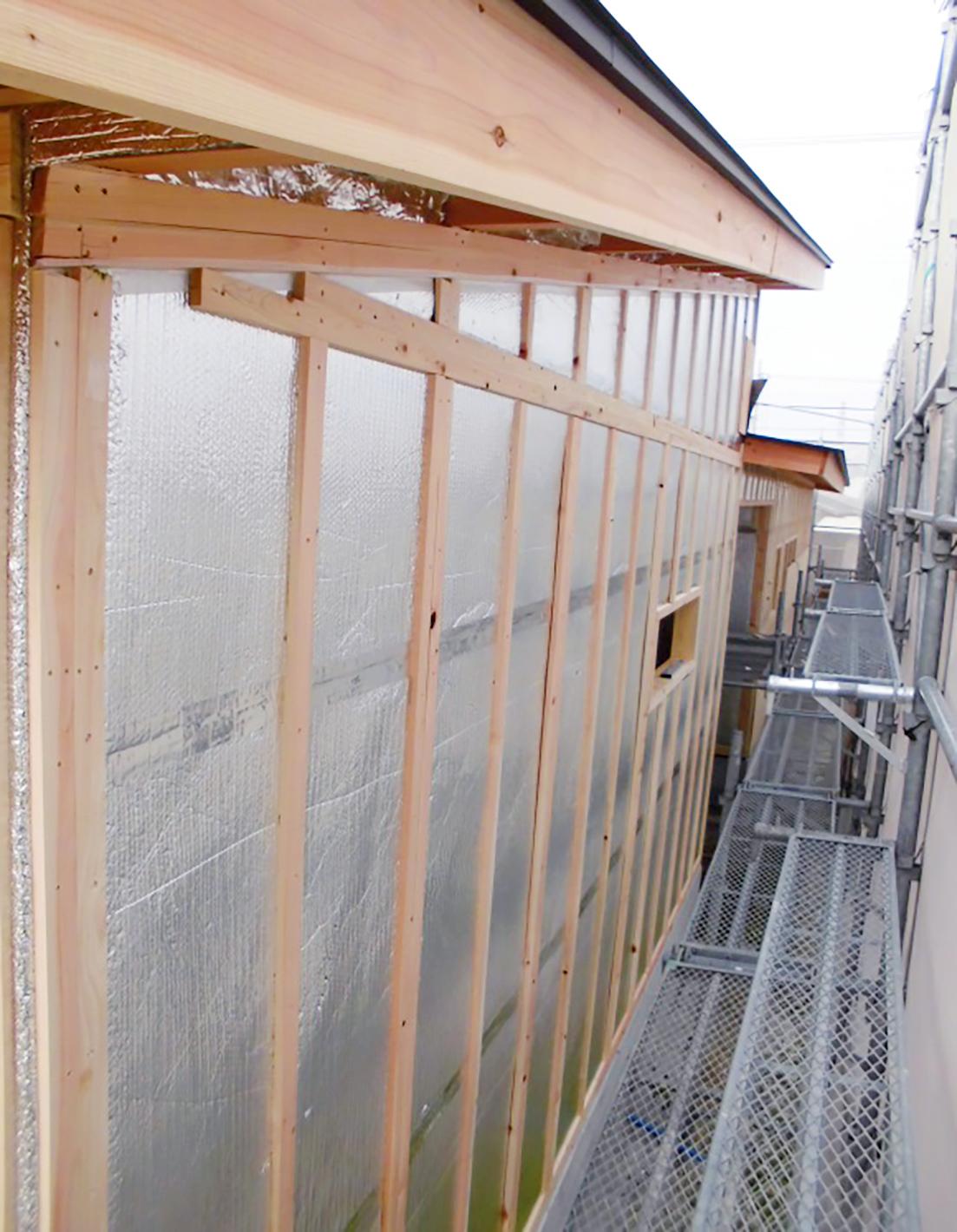 リフレクティックス(遮熱材)の施工