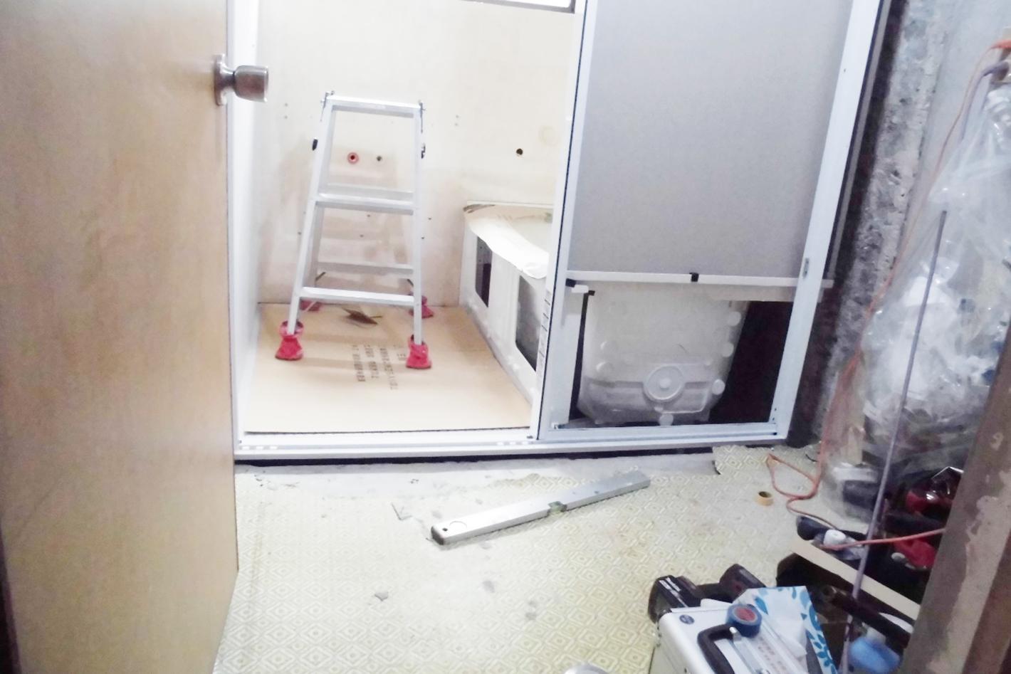お風呂のリフォーム - 工事中