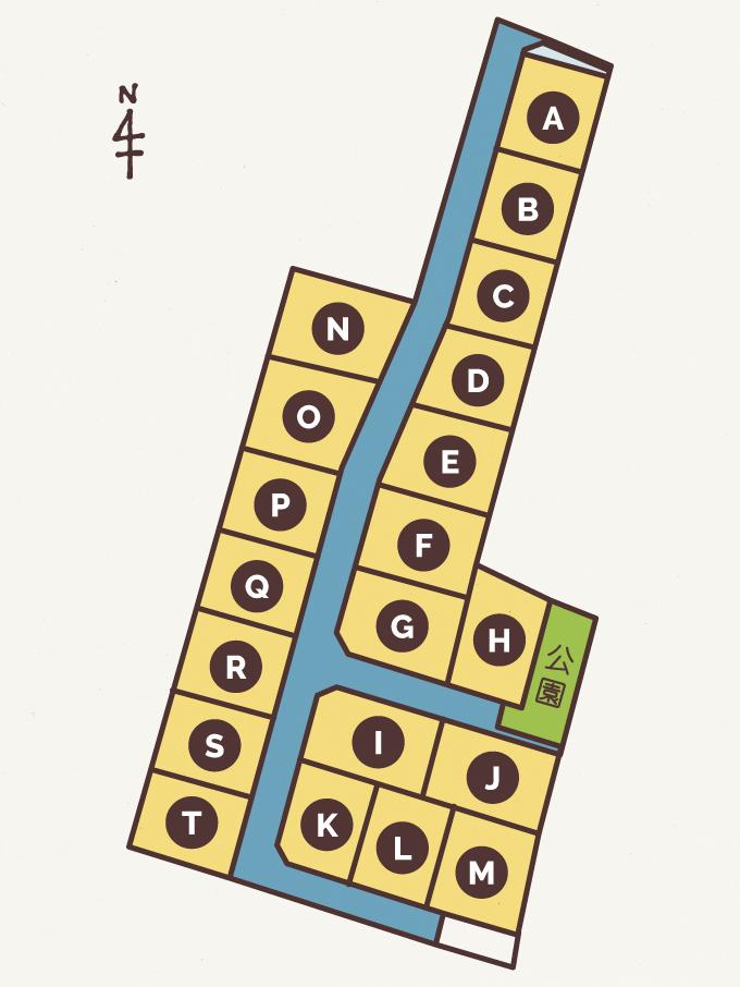 分譲地 ~高松市十川西町~ 「ICOI-まち 十川西」 区画マップ
