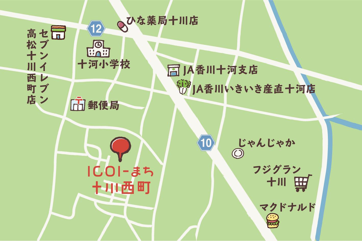分譲地 ~高松市十川西町~ 「ICOI-まち 十川西」 地図